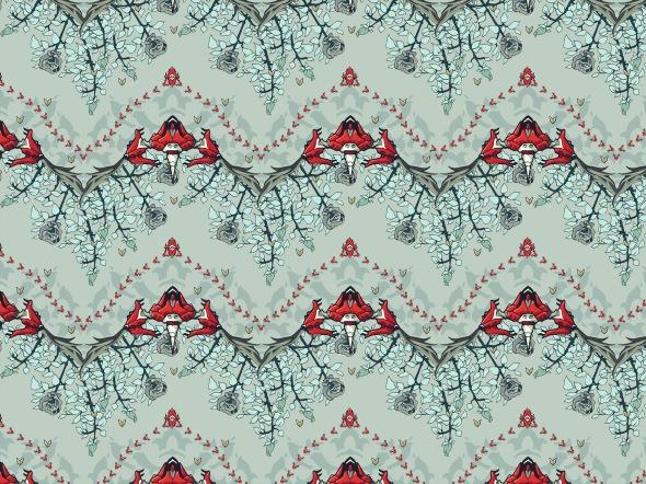 Wallpaper pattern design 24 Edouard Artus